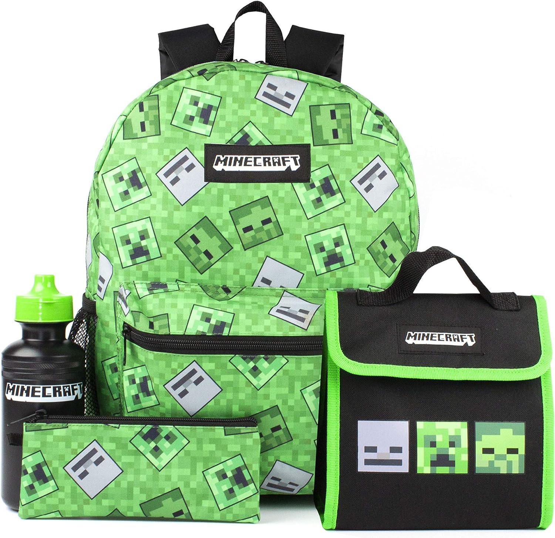 4 Piece Kids Green School Rucksack Set