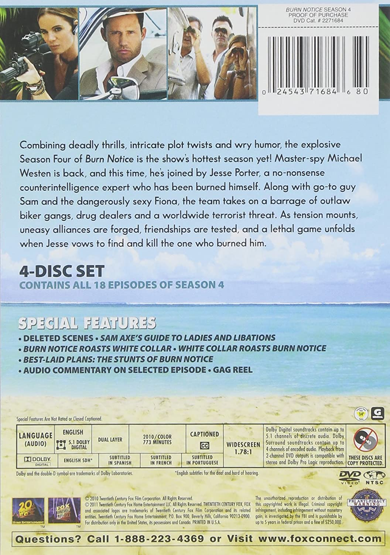 Amazon.com: Burn Notice: Season 4: Jeffrey Donovan, Bruce Campbell ...