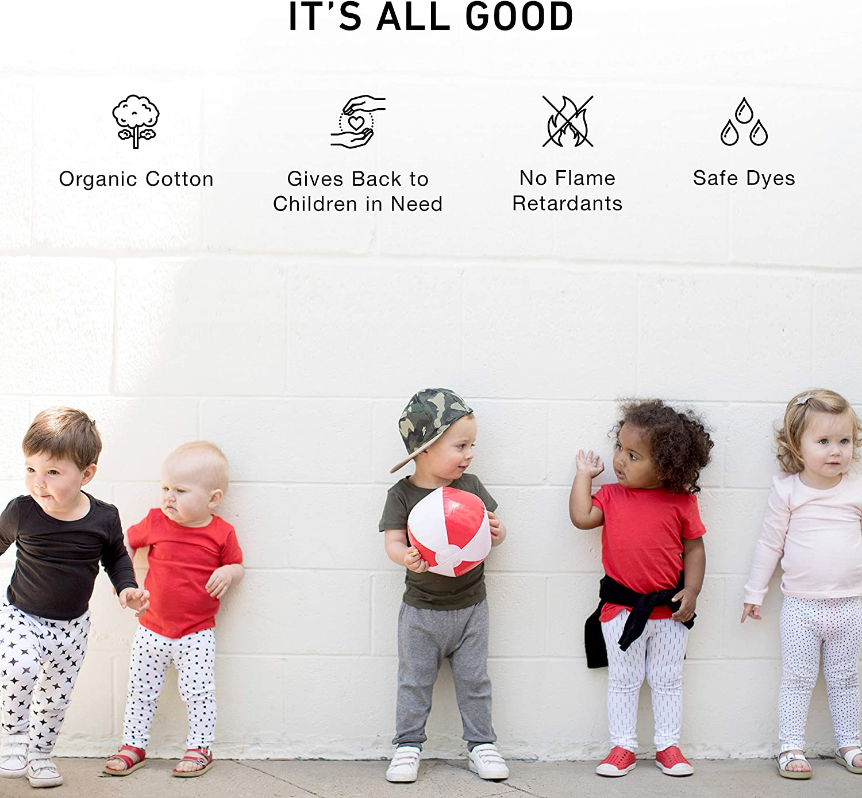 Toddler Allergy Friendly 1212 Baby Kid Legging Organic Pima Cotton