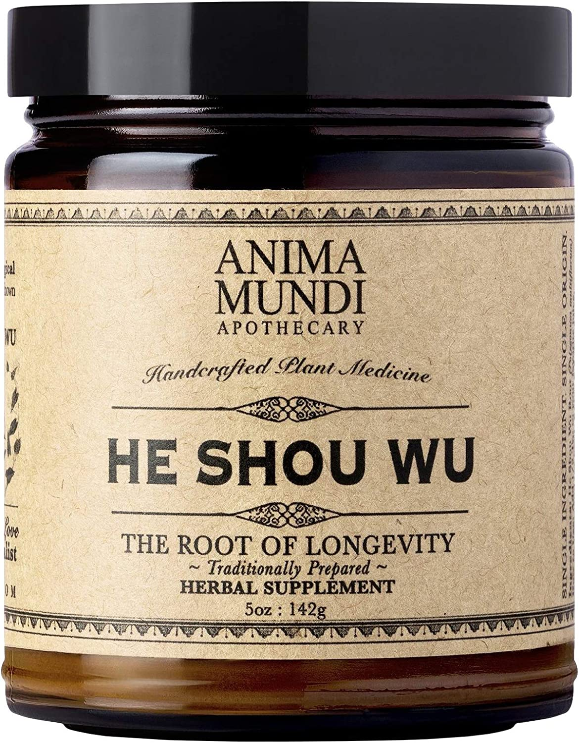 Anima Mundi He Shou Wu Powder - Pure Fo Ti Extract to Support Vitality, Powerful 10:1 Extract with No Additives or FIllers (5oz / 142g)