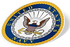 US Navy Emblem Logo Vinyl Decal Laptop Water Bottle Car Scrapbook Officially Licensed United States (Sticker - Main Seal)