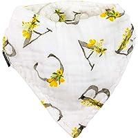 Bebe au Lait Oh-So-Soft Muslin Bandana Bib, Floral Alphabet