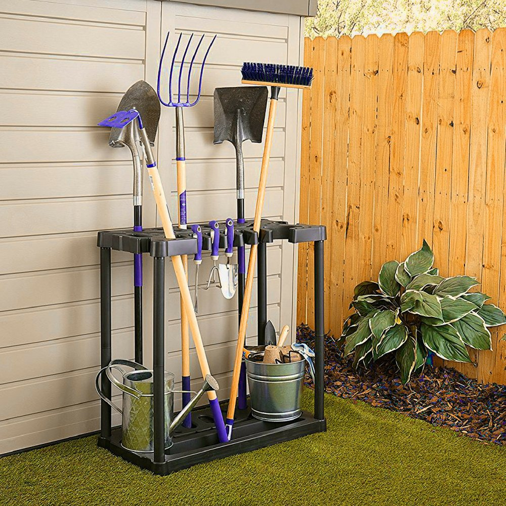 BS Garden Tool Organizer Rack Storage Floor Tools Holder Sturdy Lightweight 40 Handle Stand-up Tool Organizer Solid Base Stable Construction Storage Utility for Home Garage Shed & eBook by BADA shop by BS (Image #2)