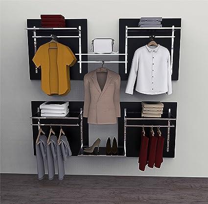 Soluzione componibile per cabina armadio o guardaroba comprensiva ...