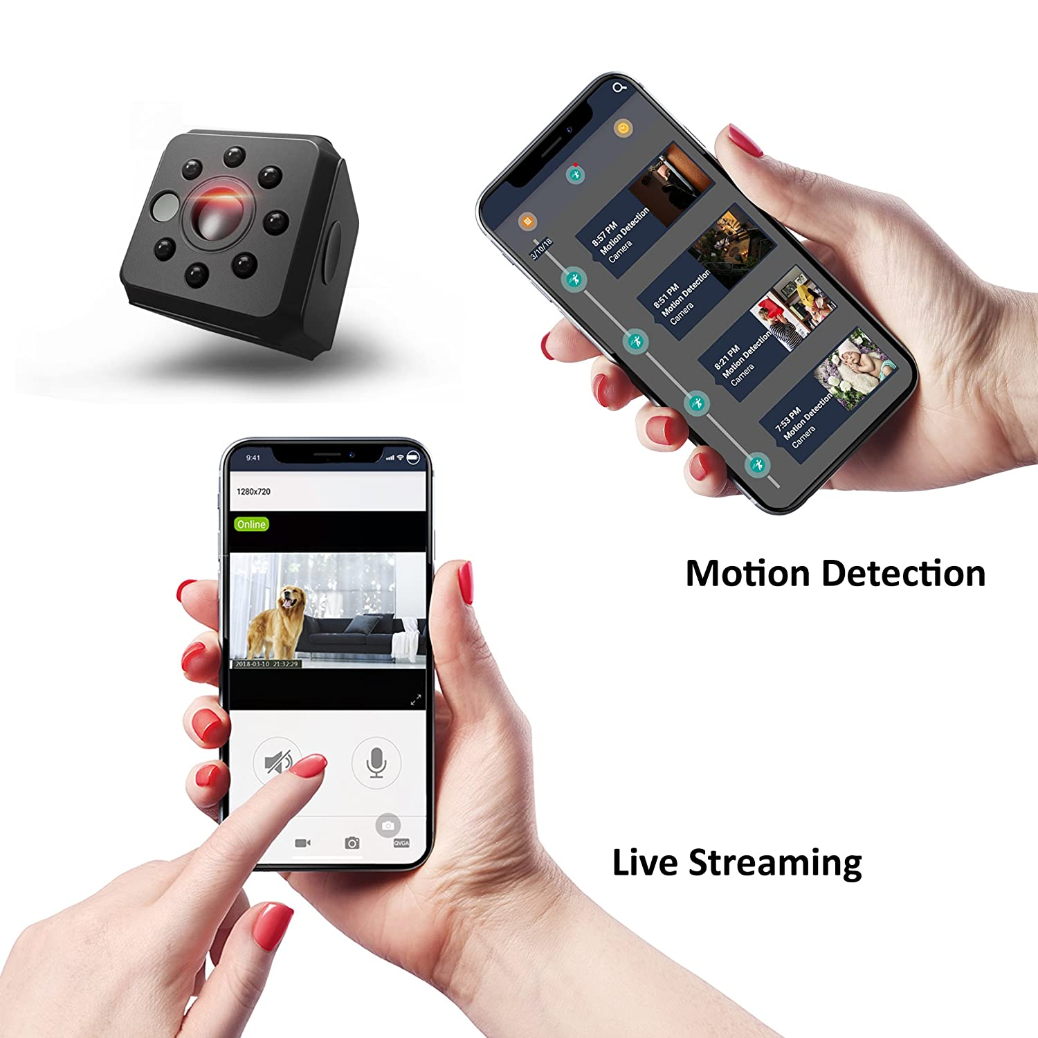 Amazon.com : Spy Camera Wireless Hidden WiFi Camera Ehomful HD 1080P Mini Camera Portable Security Cameras with Night Vision and Motion Detective Perfect ...