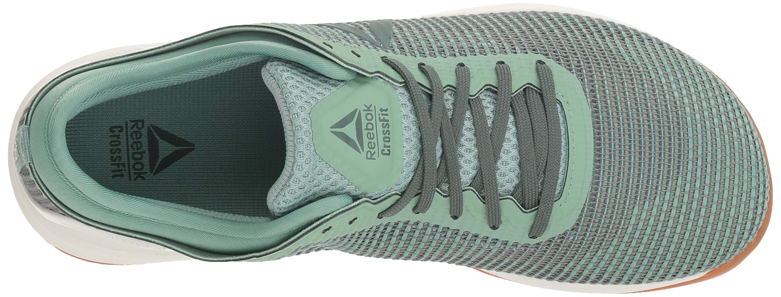 Reebok Women's CROSSFIT Nano 8.0 Flexweave Cross Trainer, industrial green/chalk grey, 5 M US by Reebok (Image #8)