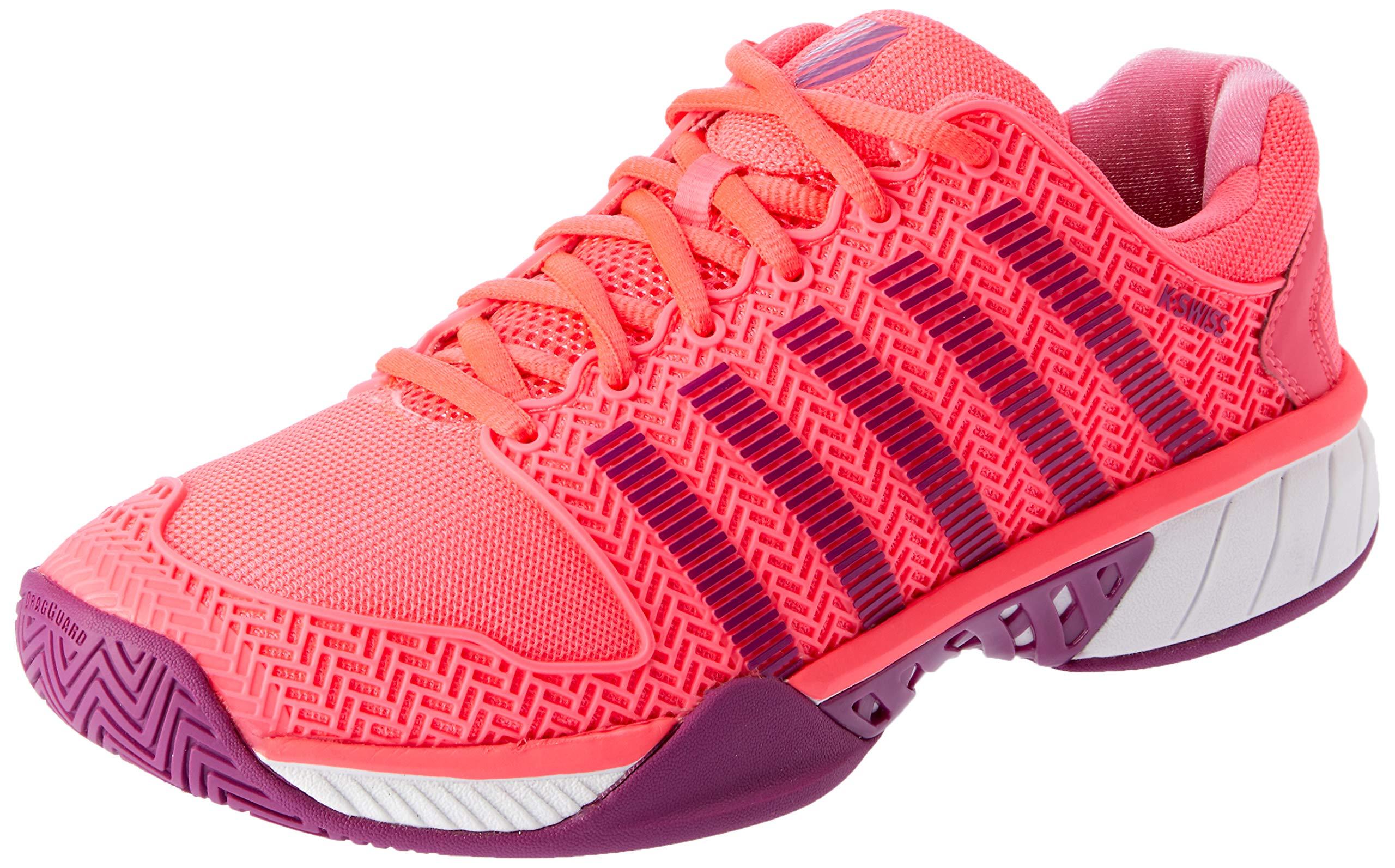 K-Swiss Hypercourt Express Womens Tennis Shoe (Neon Pink/Deep Orchid) (8.5)