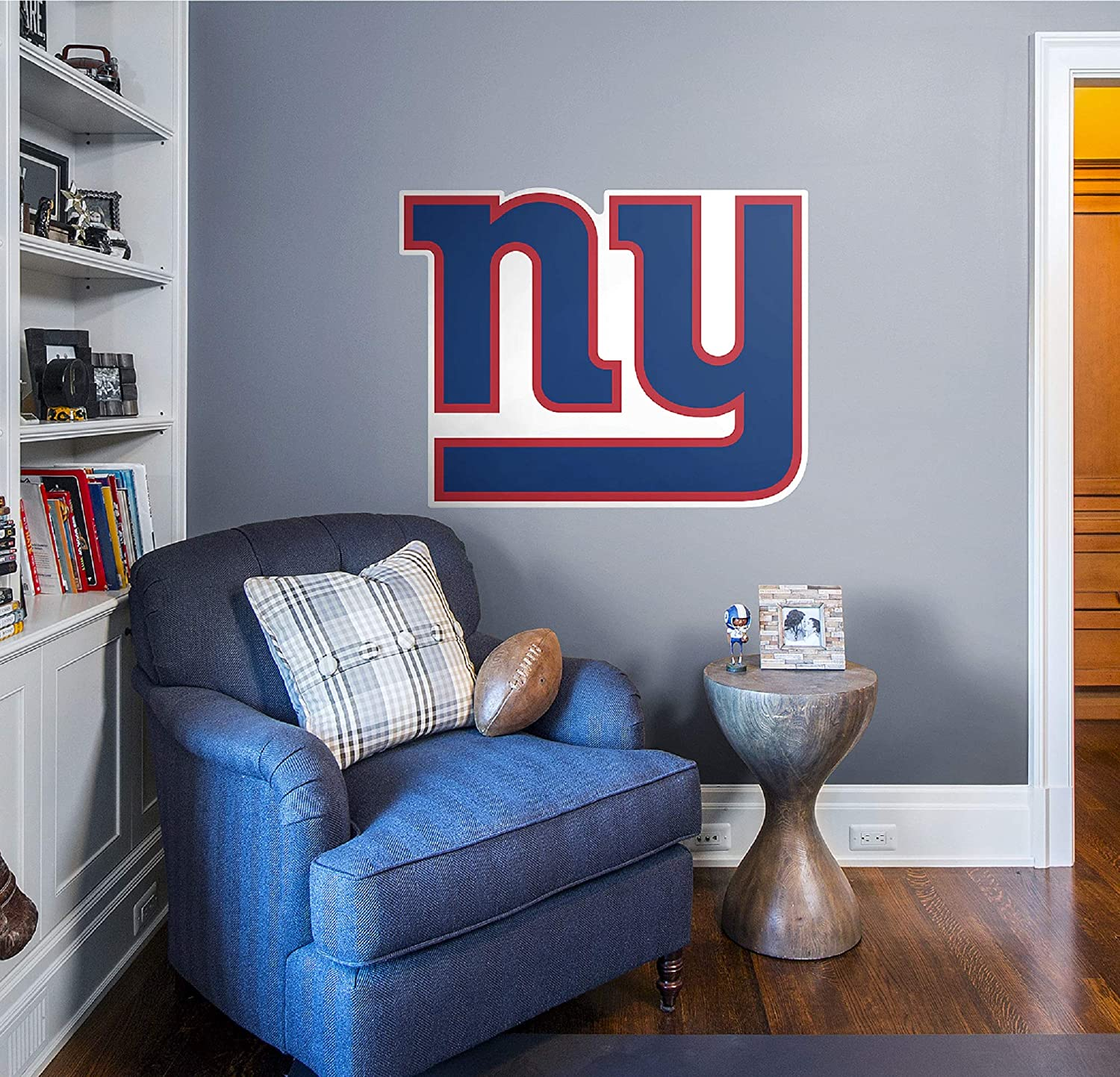 Amazon Com Fathead Nfl New York Giants New York Giants Logo Giant Officially Licensed Nfl Removable Wall Decal Sports Fan Wall Banners Toys Games