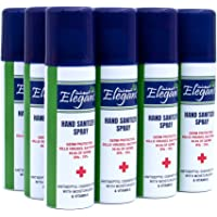 Elegant Hand Sanitizer Spray – 60ml – Pack of 12 – 70% IPA – Advanced Germ Protection – Moisturizers & Vitamin E