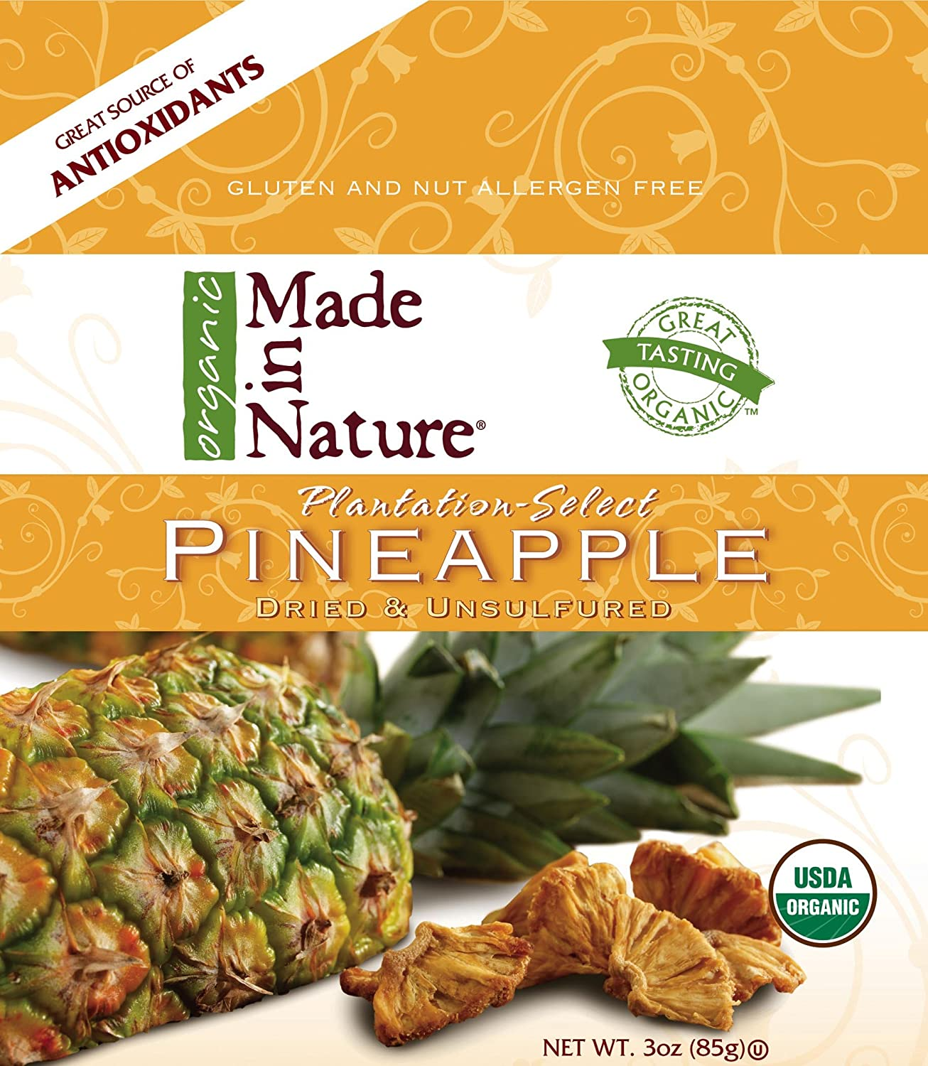 Made In Nature Organic Pineapple Pieces ( 12x3 OZ)