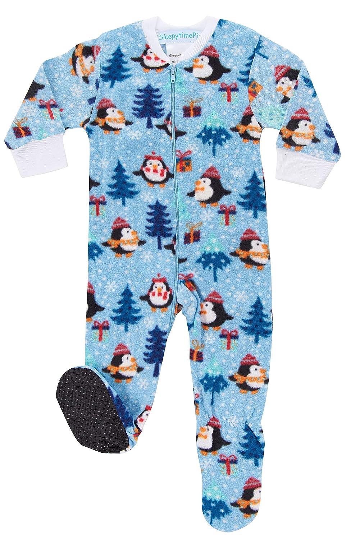 SleepytimePJs Holiday Infant Full-Zip Onesie Baby Pajamas PJs