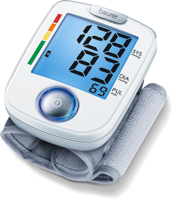 Beurer BC44 - Tensiómetro de muñeca, indicador OMS, funcionamiento a un botón: Amazon.es: Salud y cuidado personal