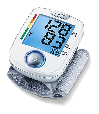 Beurer BC44 - Tensiómetro de muñeca, indicador OMS, funcionamiento a un botón