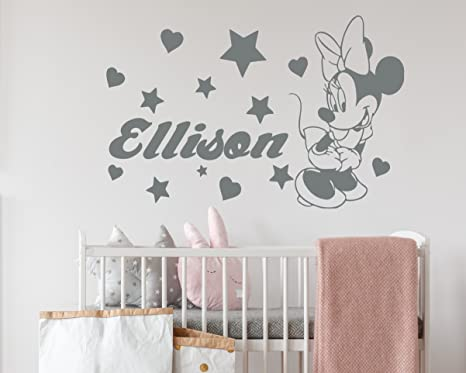 TOY BOX GIRLS/BOYS WALLS 24 HEARTS PERSONALISED NAME VINYL STICKER DECAL