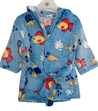 14025db12 Baby Boys Hooded Robe   Infant Boys Dressing Gown