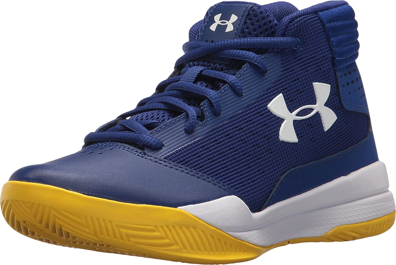 Under Armour UA BGS Jet 2017, Chaussures de Basketball garçon 1296009-500