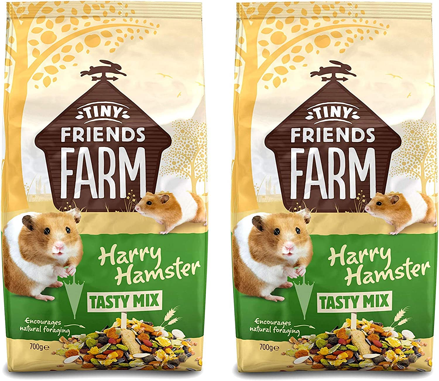Supreme (2 Pack) Harry Hamster 700g, Hamster Food