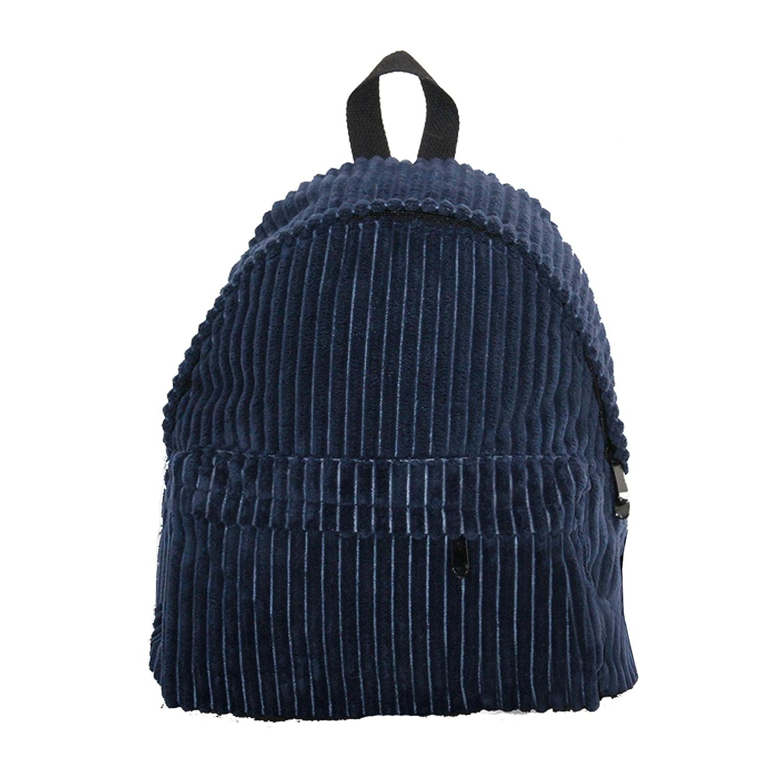 JAGENIE Fashion Women Girls Students Corduroy Backpack Rucksack School Bags Khaki