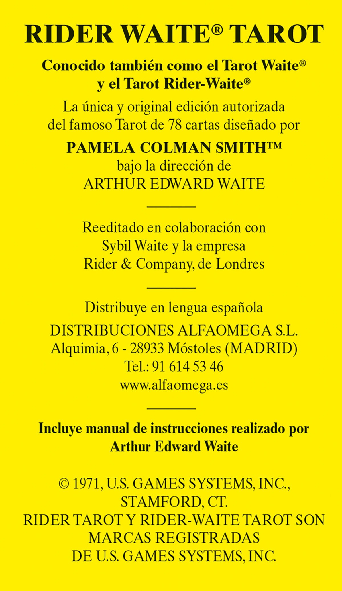 Rider Waite Tarot: Amazon.es: Arthur Edward Waite, Pamela ...