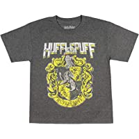 Harry Potter Hufflepuff Shirt Youth Distressed House Crest Graphic T-Shirt