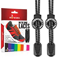 Proworks No Tie Laces | Elastic Easy Tie Shoe Laces for Adults and Kids Running Shoes - 8 Colours Available