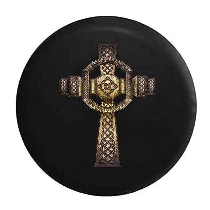 Amazon Stone Celtric Cross Irish Eternity Knot Tire Cover Black