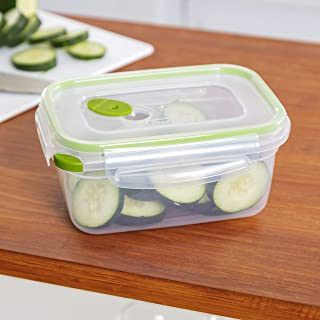 product image for Sterilite Ultra Seal 4.5-Cup Rectangle See-Through Lid and Bases with New Leaf Accents, 6-Pack
