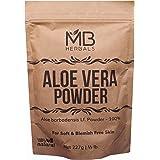 MB Herbals Aloe Vera Powder 227g | Half Pound | 100% Pure & Organically Cultivated Aloevera Powder | Natural Skin Moisturizer
