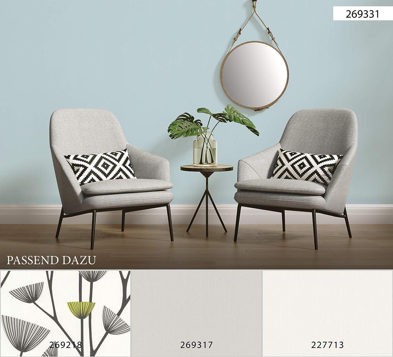 Sch/öner Wohnen papel pintado de tejido-no-tejido blanco 10,05 m x 0,53 m 227713