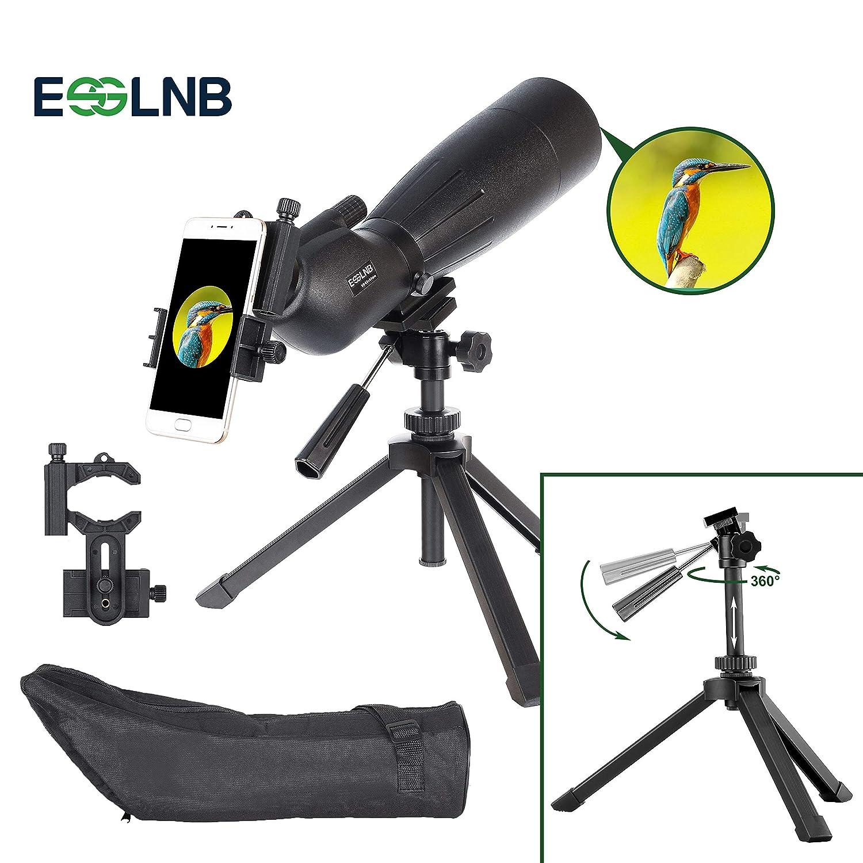 ESSLNB Cannocchiale 25-75X70 Telescopio Impermeabile Prisma BAK4 Con Adattatore Per Telefono Treppiede E Borsa Per Il Birdwatching Tiro Al Bersaglio