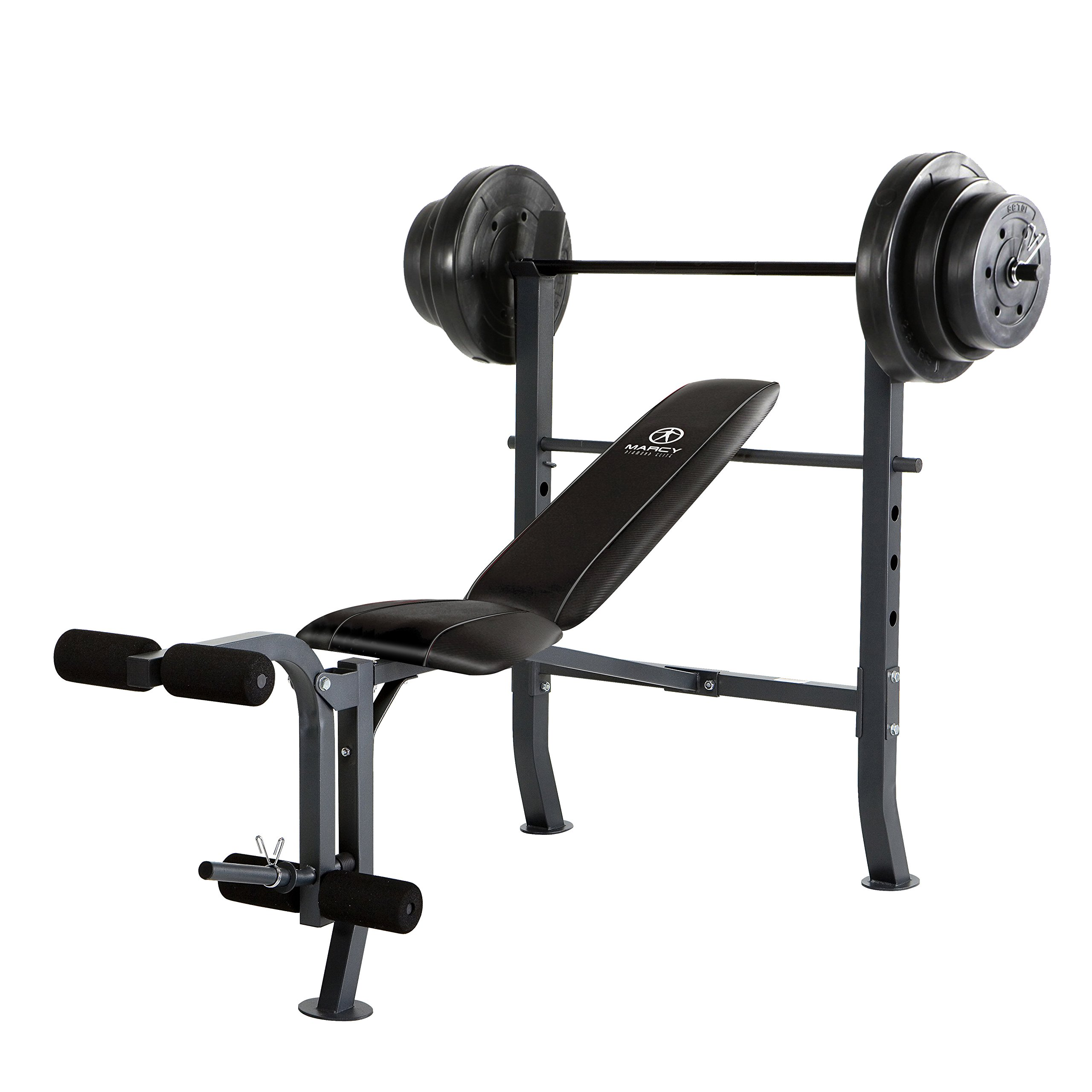 Marcy MD-2082W Diamond Elite MD Standard Bench with 100 lb. Weight Set by Marcy