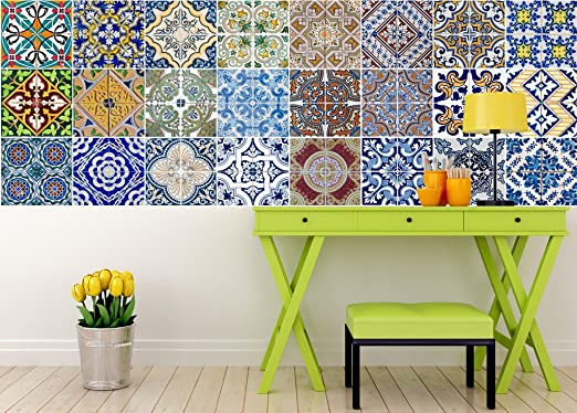 Tile Stickers Set Authentic Traditional Talavera Tiles Stickers