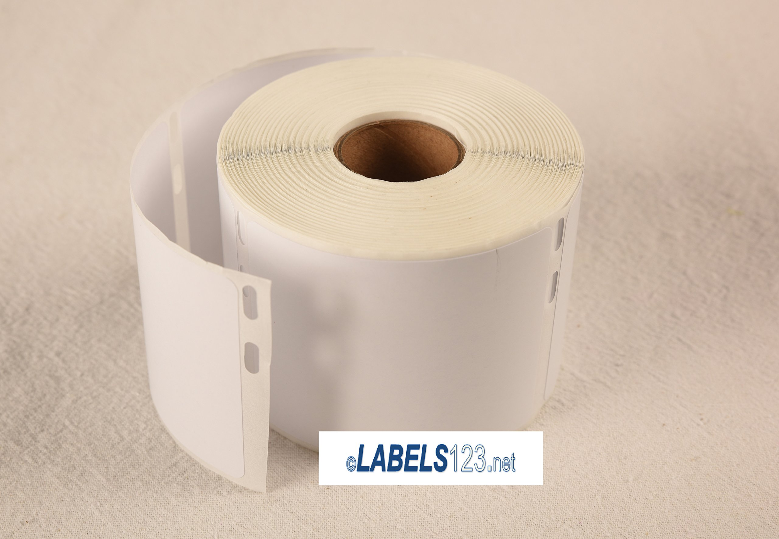 Labels123 DYMO-Compatible Twin Turbo 30324 Media Labels (2-1/8'' x 2-3/4'') Thermal White Return (6 Rolls; 400 Labels per Roll)