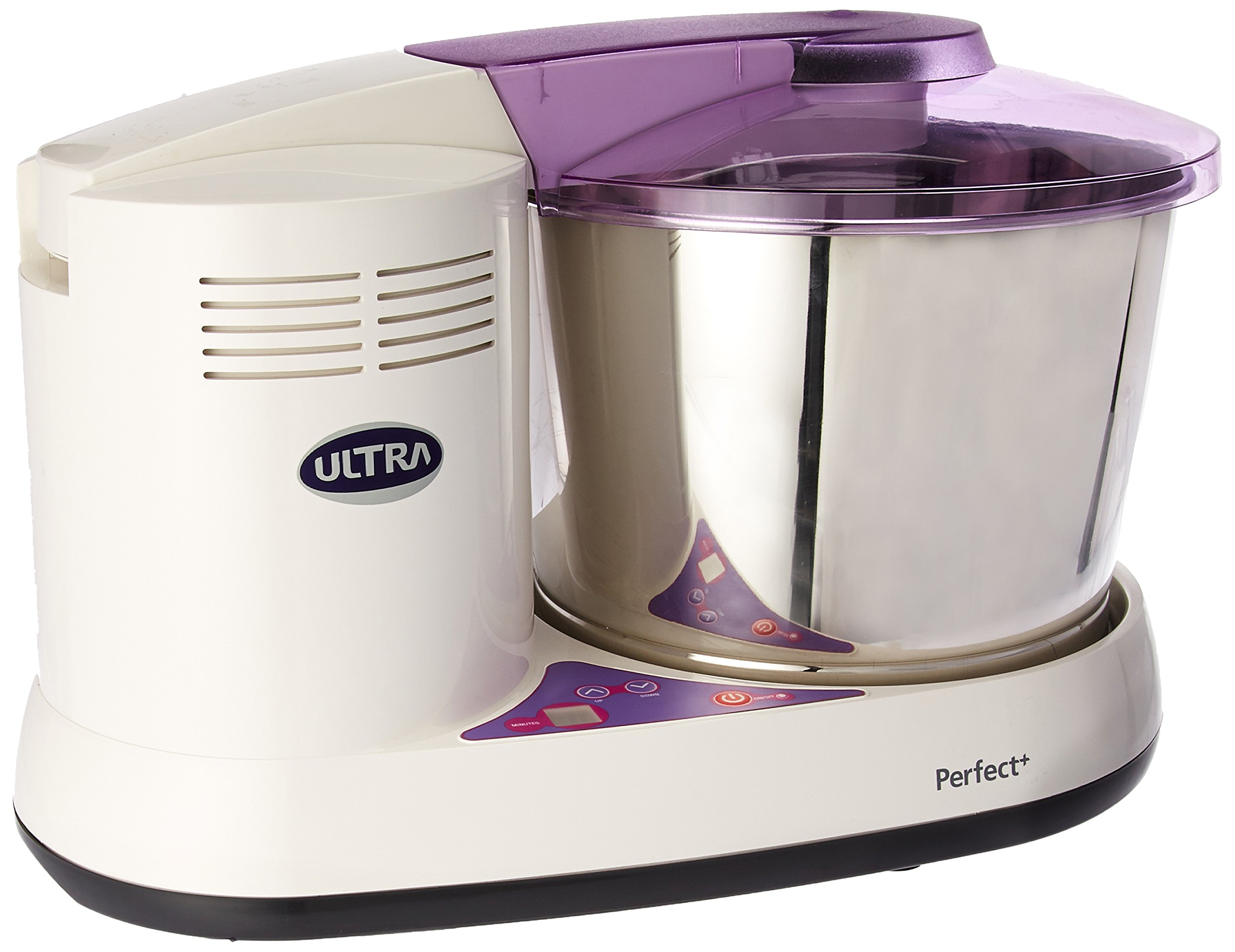 Ultra Perfect+ Table Top 2 Liter Wet Grinder with Atta Kneader & Digital Timer, 110V by ULTRA