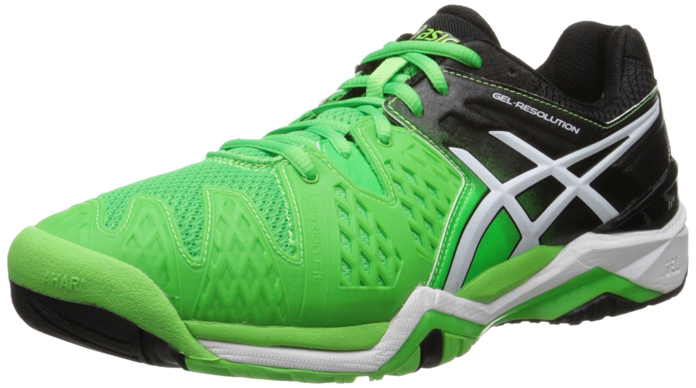 db2ca4cc08 Galleon - ASICS Men's Gel-Resolution 6 Tennis Shoe, Flash  Green/White/Black, 10 M US