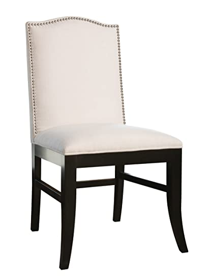 Awesome Amazon Com Abbyson Carrington Linen Nailhead Trim Dining Bralicious Painted Fabric Chair Ideas Braliciousco