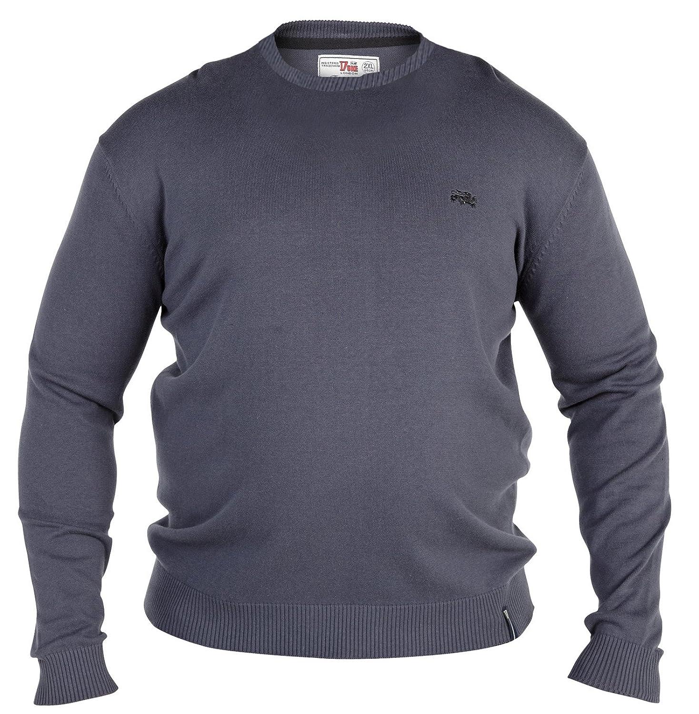 Duke Men's Kingsize Crew Neck Thin Knit Jumper Sweater