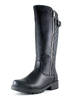 Aquatherm by Santana Canada Women's Jax Moto-Chic Cold Weather Riding Boot on Lug Sole