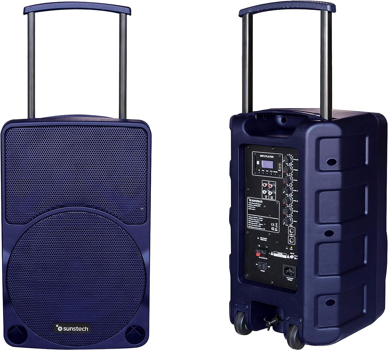 Sunstech Muscle Pro - Altavoz portátil Bluetooth de 40W con Trolley. Color Azul.