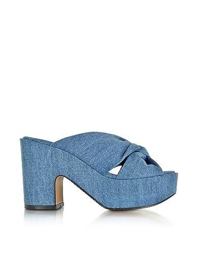 3e05d7040103 Robert Clergerie Femme 3003061132 Bleu Denim Sandales  Amazon.fr ...