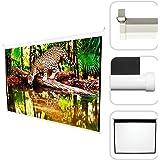 Todeco - Ecran de Projection, Écran pour Projecteur - Matériau: Tissu en nylon - Taille repliée: 210 x 200 x 7 cm - 200 x 200 cm