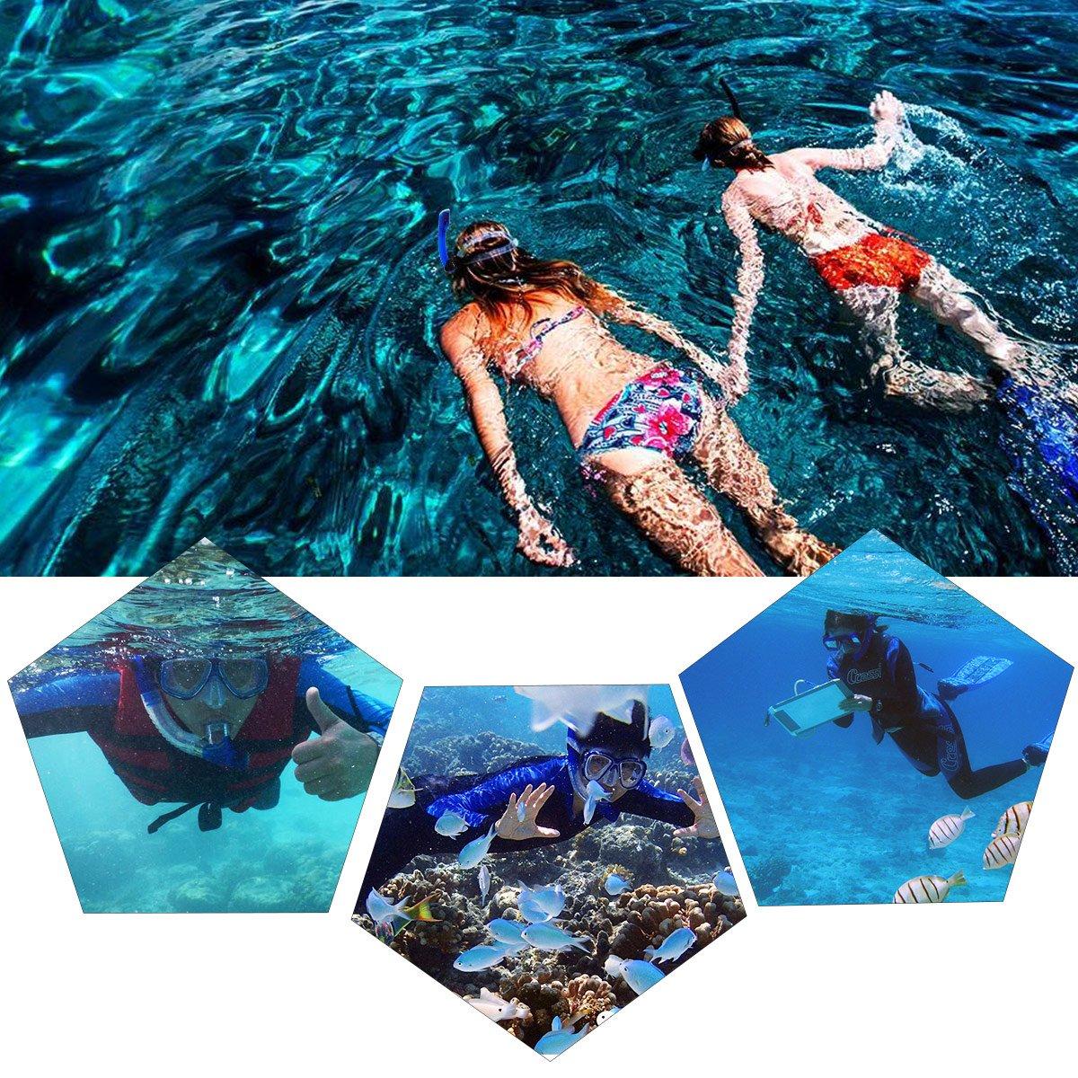 100/% wasserdichte WEINAS Premium Schnorchelset Taucherbrille mit Schnorchel Komfort-Gummiband diving mask Erwachsene gopro stand