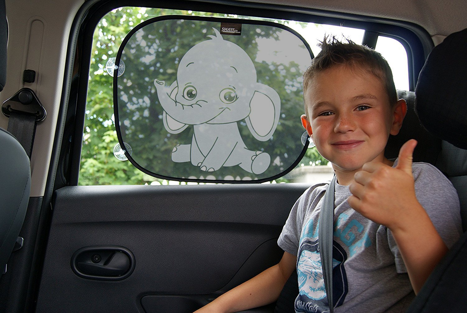 SMARTCAR ADDS Car Window Sun Shades for babies and children universal size for side window car sun shades protection from UV Rays and heat easy to install