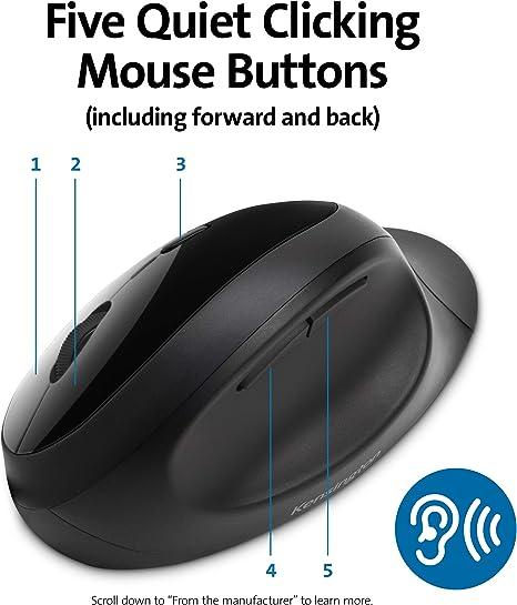 Kensington Kabellose Ergonomische Maus Pro Fit Ergo Computer Zubehör