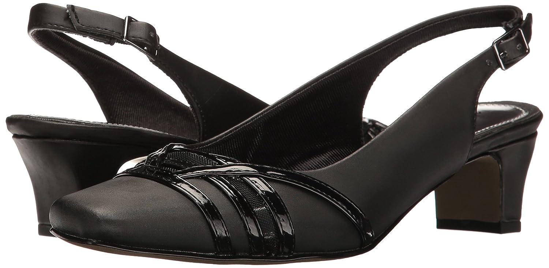 Easy Street Women's Kristen Dress Pump B01MSSJTOL 9 W US Black Satin/Patent