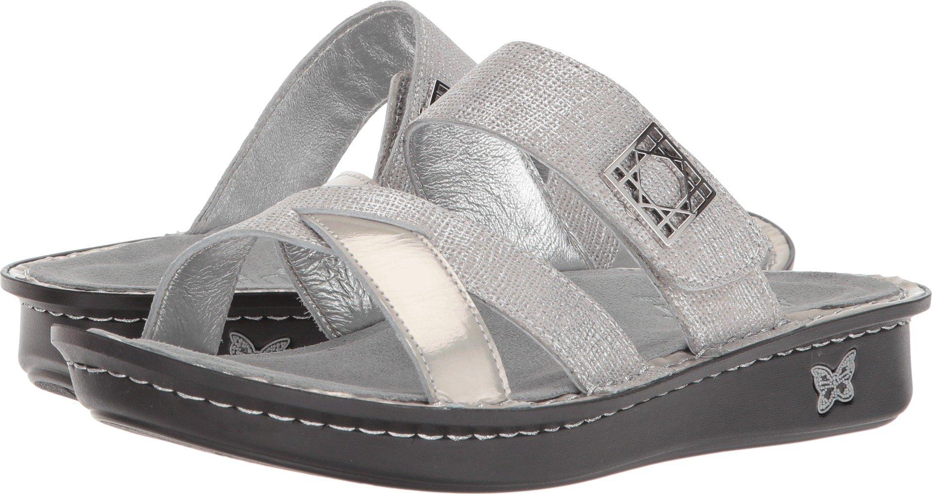 Alegria Women's, Victoriah Slide Sandals Ivory 4 M