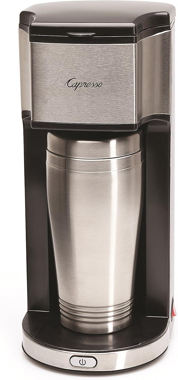 Capresso 425 On-the-Go Personal Coffee Maker, Silver/Black