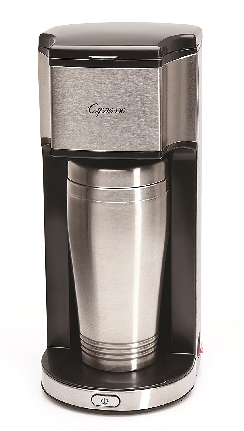 Capresso 425 On-the-Go Personal Coffee Maker, Silver Black