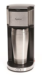 Capresso 425 On-the-Go Personal Coffee Maker, Silver/Black
