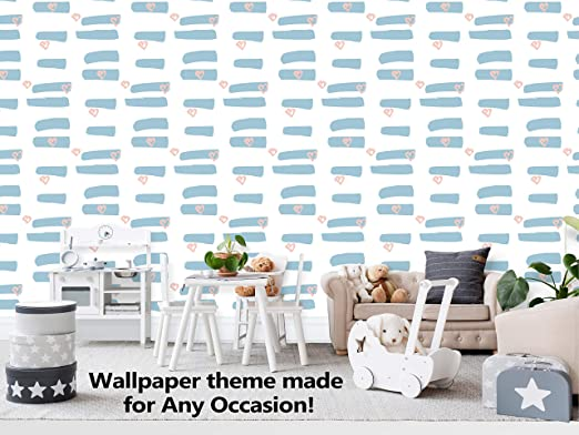 Amazon Com Heart Paint Brush Theme Wallpaper Mural For Interior Design Peel And Stick Wallpaper Decor You Walls For Any Occasion R449 24 X 96 Home Kitchen